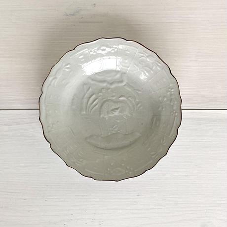 安齋新厚子 白磁芙蓉皿