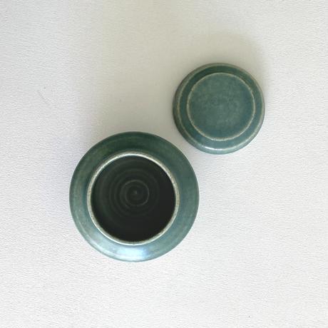 林拓児 緑釉蓋物