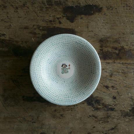 升たか 色絵ペルシャ紋小皿