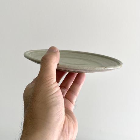 林拓児 灰釉6寸平皿