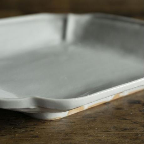 安齋新厚子 白磁菱形皿