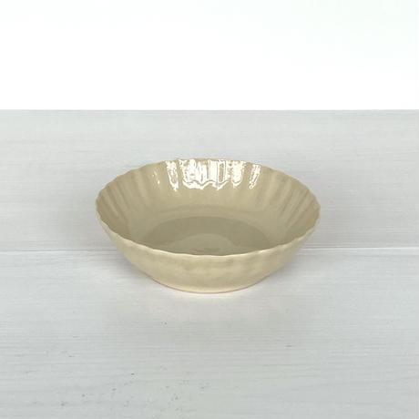 安齋新厚子 米色青磁輪花なます皿