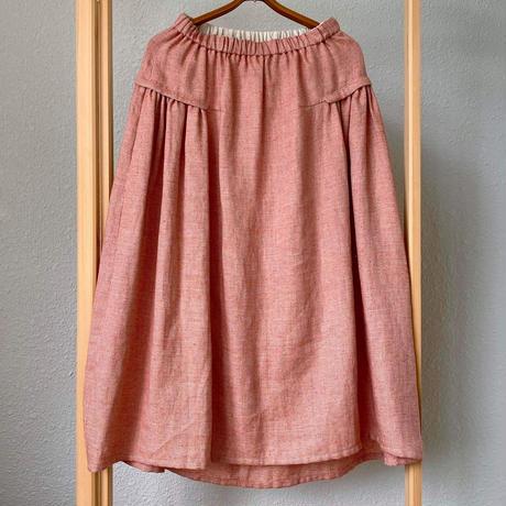 mon sakata フラップ付スカート(シルクネップリネン)