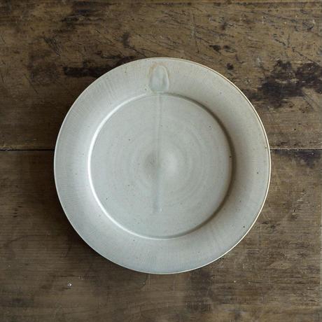安齋新厚子 青磁8寸段皿