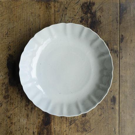 安齋新厚子 白磁なます7寸皿