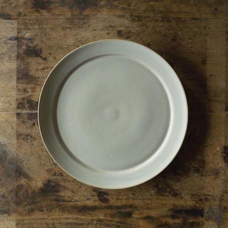 安藤由香 リム皿8寸 ブルーグレー