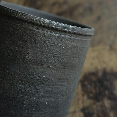 林拓児 炭化切立湯呑