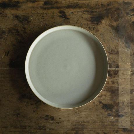 安藤由香 丸皿7寸 ブルーグレー