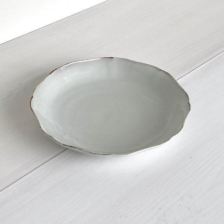 安齋新厚子 白磁渕鉄平なます皿