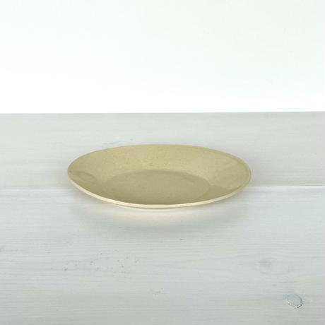 安齋新厚子 米色青磁オーバル皿 (小)