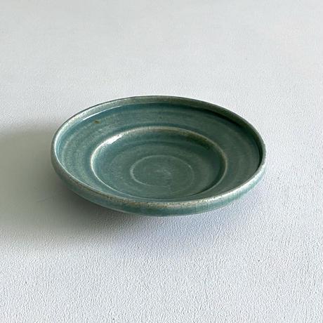林拓児 緑釉5寸皿