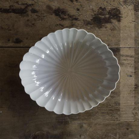 安齋新厚子 白磁菱形菊鉢