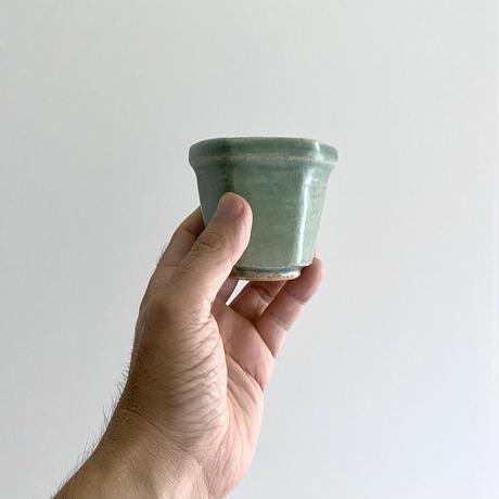 林拓児 緑釉六角湯呑(A)