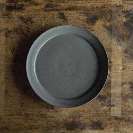 安藤由香 リム皿8寸 ネイビー