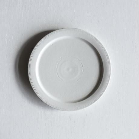 船串篤司 白釉リム皿24φ
