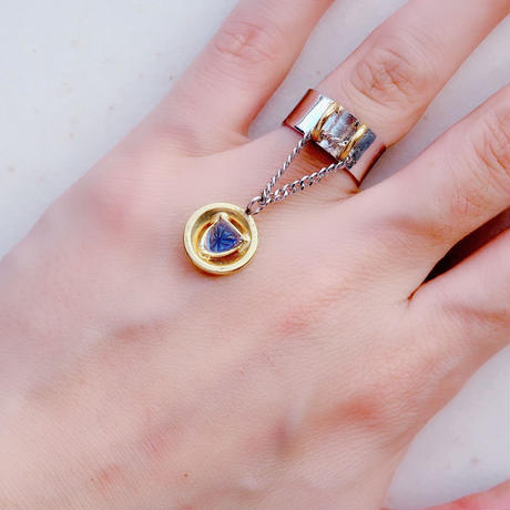 vintage chain ring Blue