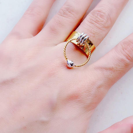 nejiri  foop ring gold
