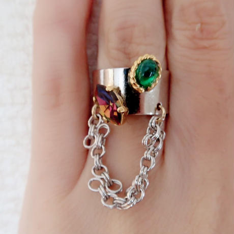 vintage  nejiri chain ring