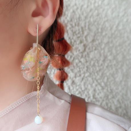undulate   draw    monet  (pierce   earring)