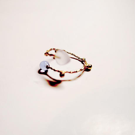 ivy small α gold ring