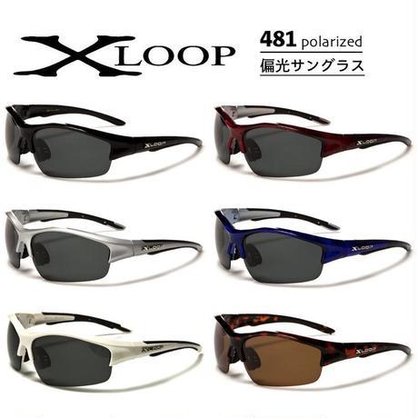 偏光 レンズ スポーツ サングラス X-LOOP 481 ゴルフ 釣り ランニング 6色