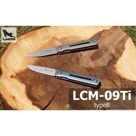 Luchs【LCM-09Ti-B】 ルークス 軽量チタン ハンドル ナイフ ブレード材質 S35VN フィッシング アウトドア キャンプ EDC