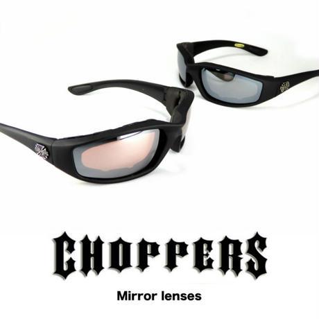 アメリカ Choppers チョッパーズ バイカー パッド付き サングラス  バイク用ゴーグル CP901 ミラーレンズ