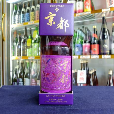 【京都府内限定流通】京都ウイスキー 西陣織紫帯(ラベル)700ml  専用箱入り