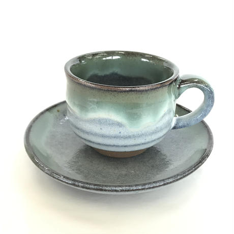 【松代焼】コーヒーカップ&ソーサー 大