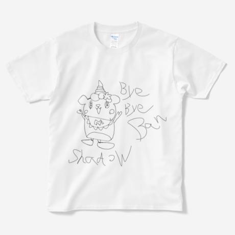 バイバイシャドーバンシルクスクリーンTシャツ 【そうりょこみなの】
