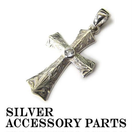 シルバー アクセサリー ネックレス トップ パーツ 925 クロス 十字架 (28)