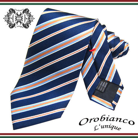 Orobianco L'unique オロビアンコ ルニーク ネクタイ 新柄 シルク メンズ 紳士 ビジネス (53)