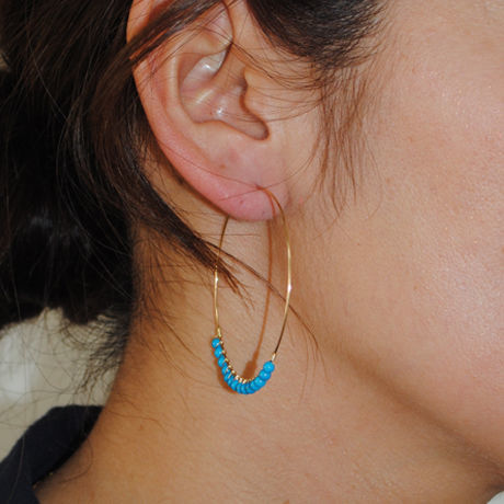 loop shell & turquoise