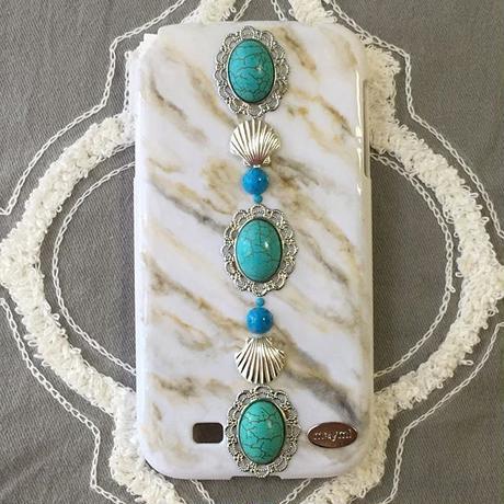 turquoise&marble caseA