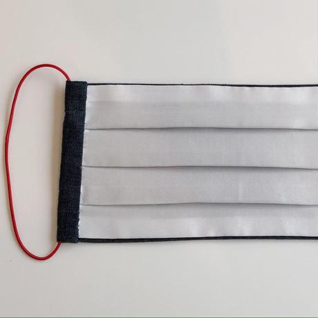 マスク WPCOCOON デニム×絹の羽二重(Mサイズ)