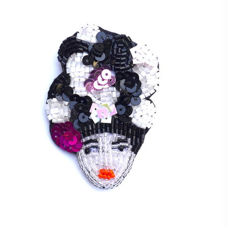 WA! SOU! Kimono Girl | ビーズブローチ hand made beads brooch