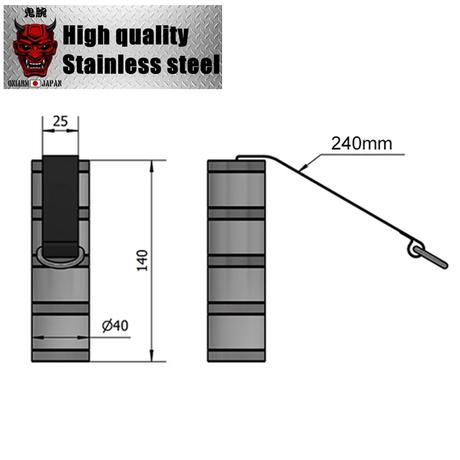 Wrist bar EX for armwrestling|Full304stainless