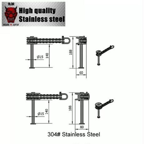 Hook roller PRO for armwrestling Full304stainless