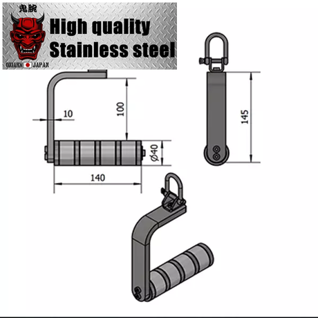 Side open handle PRO for armwrestling|Full304stainless