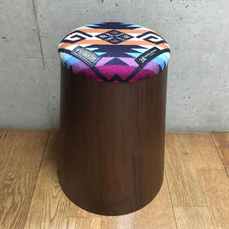"【限定モデル】PENDLETON×MB7r KNOT STOOL 903 MEDUIM ""COYOTE BUTTE NAVY "" WALNUT"