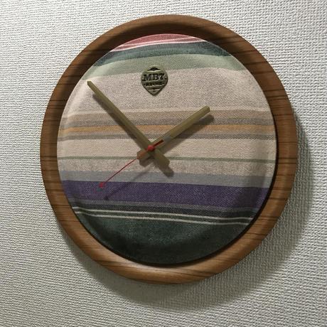 """【展示品】MB7r WALL CLOCK """"OLD FABRIC desert spring """" TEAK"""
