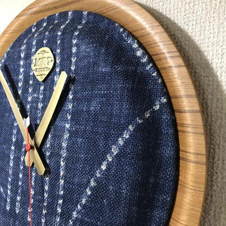 """【展示品】MB7r WALL CLOCK """"OLD FABRIC"""" TEAK"""