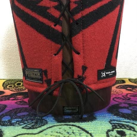 """【廃番商品】PENDLETON® × MB7r UTLITY BASKET SMALL """"WALKING ROCK RED/BLACK"""" WALNUT"""