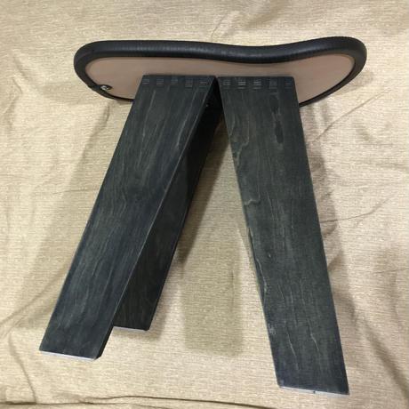 """【展示品】PENDLETON×MB7r HALF SKATE DECK STOOL """"TUCSON BLACK"""" AIZOME WOOD BASE"""