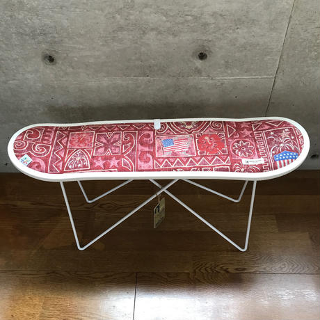 "reyn spooner×MB7r SKATE DECK STOOL WHITE ""SUMMER COMMER"""