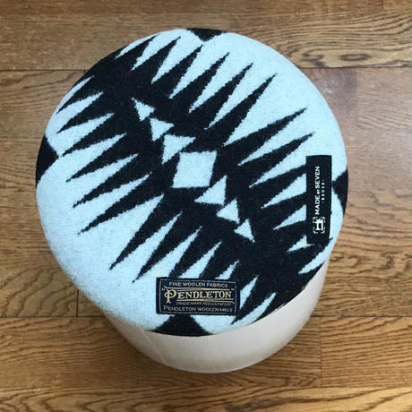 "PENDLETON×MB7r KNOT STOOL 905 LARGE ""WALKING ROCK ""  WHITE"