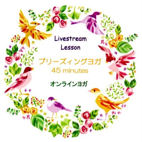 10/24(日)ブリーズィングヨガ 45 10:35〜11:20 Livestream Lesson(オンラインヨガ) 視聴 ID チケット