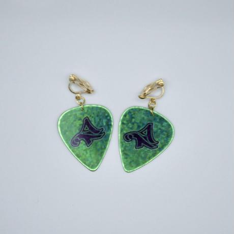 ATロゴ ピックイヤリング【Green】