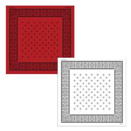 55cm角:【MCB551650】BEAMS別注  COLLABORATION  「RED」(メガネ拭き・めがね拭き)
