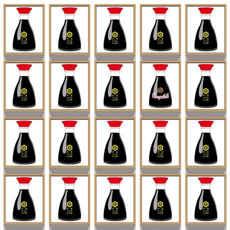50cm角:【MCB50500】愛、そして賭け / けみ芥見 CHEMI AKUTAMI (めがね拭き・メガネ拭き)